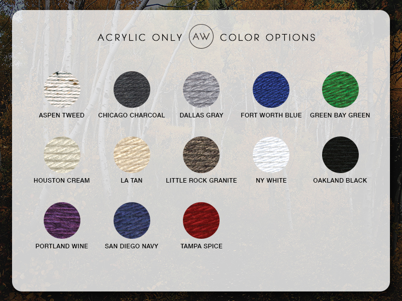 AW Acrylic Only Color Options