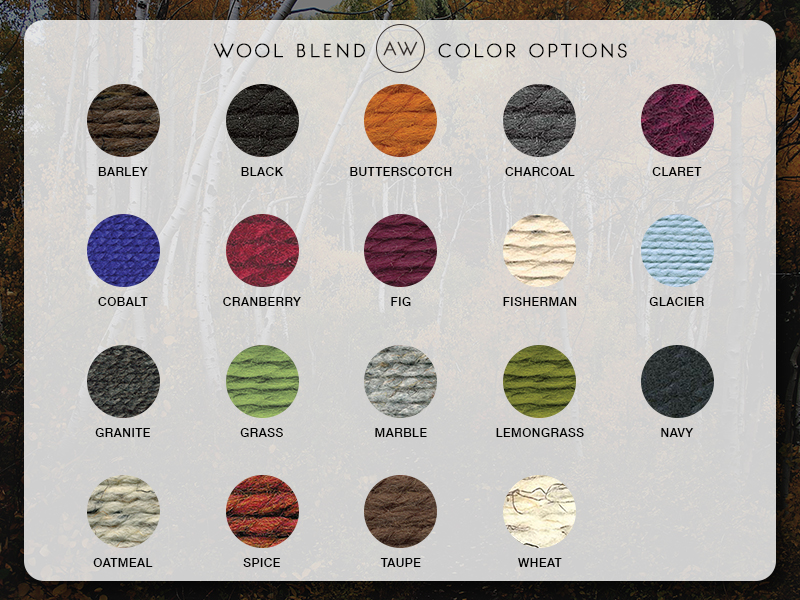 AW Wool Blend Color Options