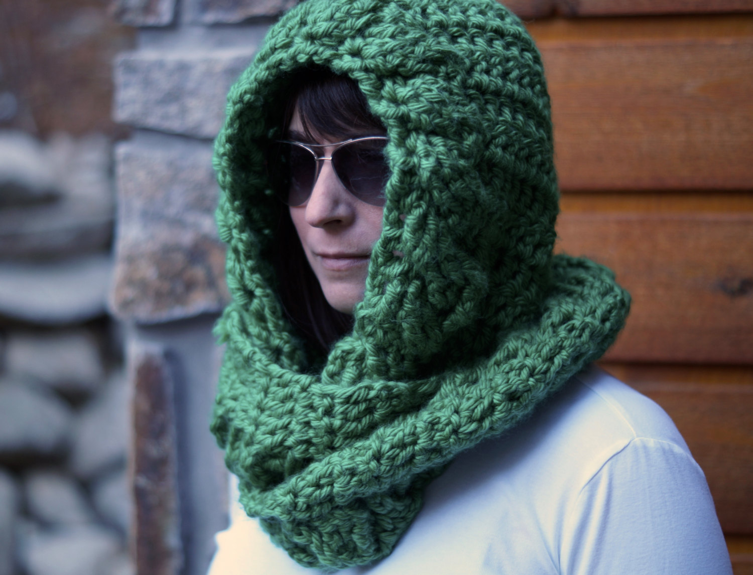 Into the Woods Hooded Cowl Scarf