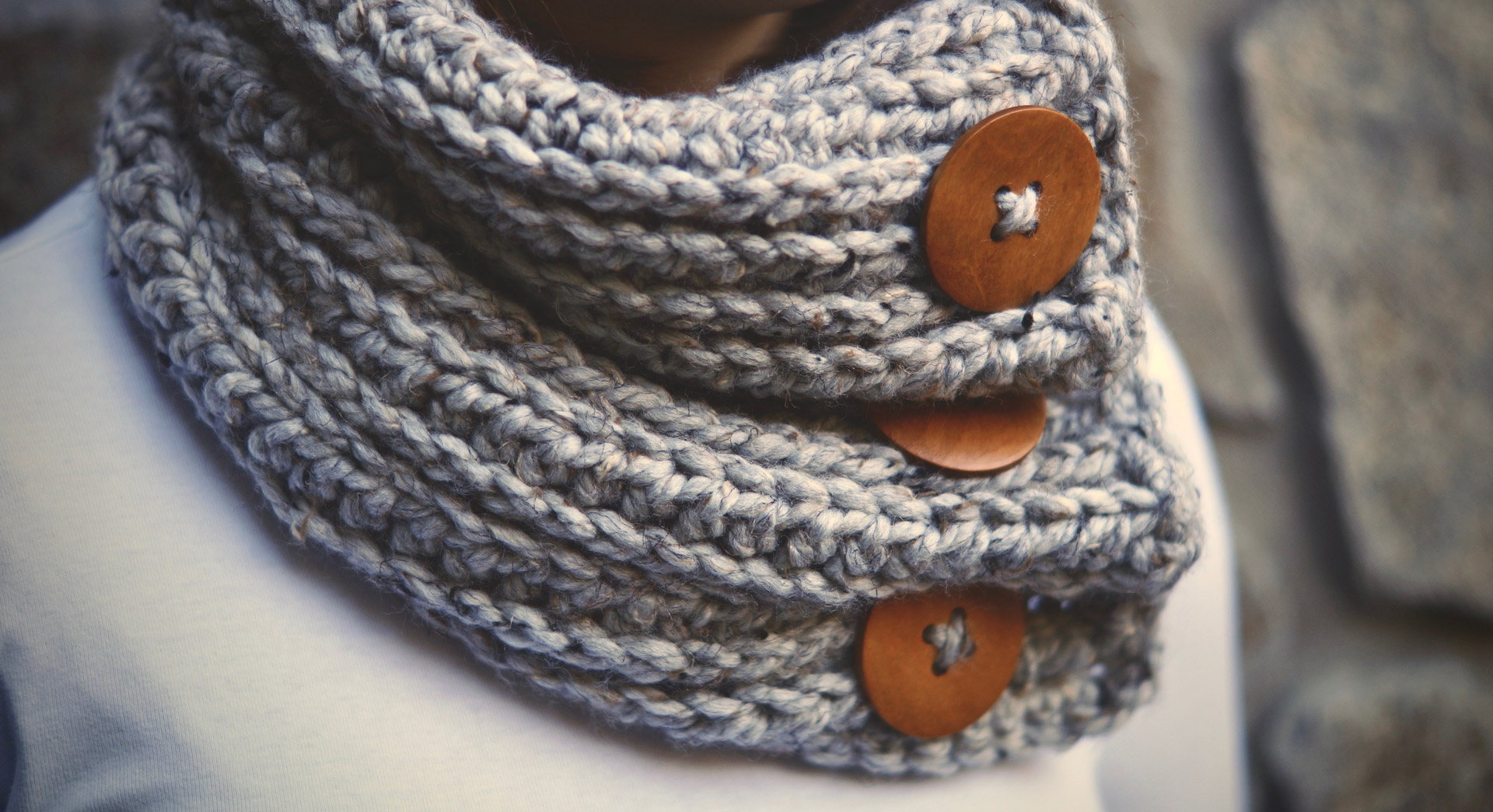 Classic <br />Button Scarf