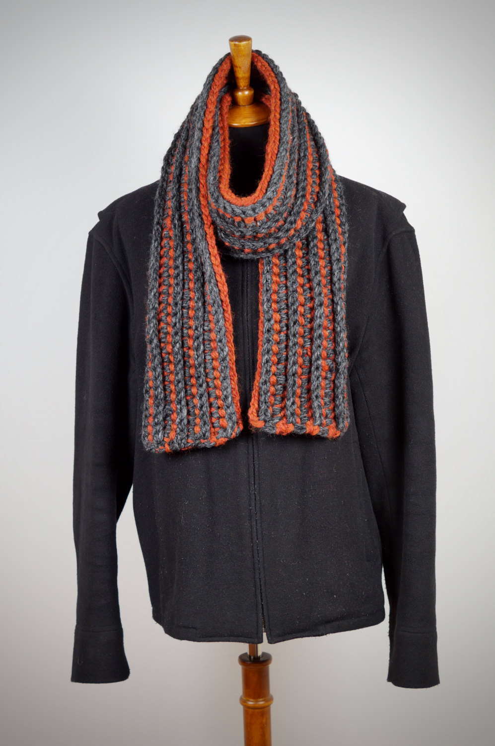AspenWarm Men's Ribbed Chunky Scarf