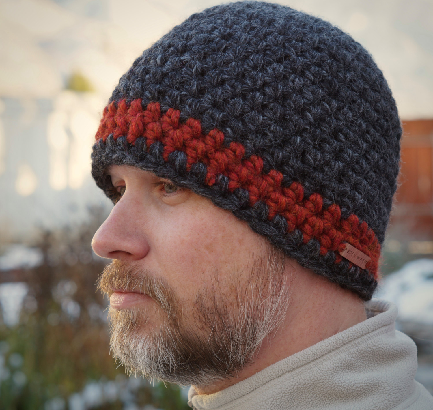 Men's Seamless Striped Beanie